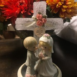 Precious Moments Bride and Groom with Cross